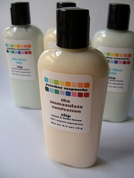 The Immaculate Confection Slip Organic Hand and Body Lotion - Chocolate, Caramel, Honeycomb, Marshmallow... LAST BATCH 25% OFF