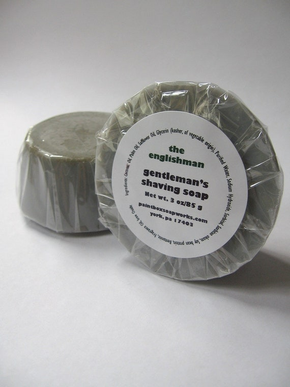 The Englishman Gentleman's Shaving Soap - Leather, Earl Grey, Tobacco