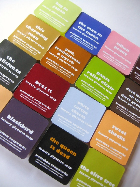 100 Mini Tablet Soap Samples in Your Choice of Scent with Custom Labels