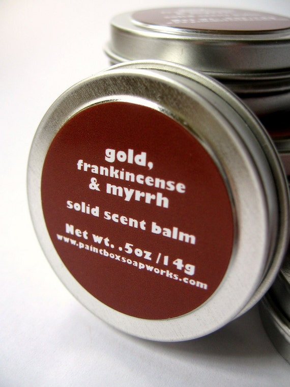 Gold, Frankincense and Myrrh Solid Scent Balm - Resins, Amber, Dry Vanilla, Smoke... Limited Edition