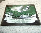 Collectible Glass Ashtray Barton Distilling Company