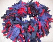 Shaggy Dog Costume Collar in Red and Navy for Fourth of July