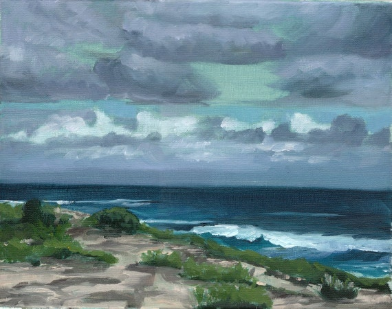 Kauai Coast 11 by 14 Original Oil Painting