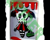 Ghouls Night Out (tm) Zombatty (tm) Gothic Vinyl Id Holder Credit Card Holder Cute Gothic Accessories