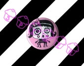 Gothic Buttons Spider Girl Candy Crawl 1 inch button Pink Gothic Accessories Cute Goth Buttons