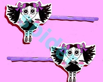 Scary Cupcake (tm)  Hair Bobbies Hair Clips  Bobby Pins Gothic Accessories