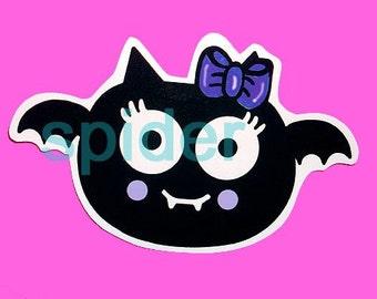 Spooky Bat (tm) Swoopella (tm) The Original Baby Bat Die Cut Sticker  Stickers Glossy Sticker Die Cut