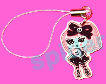 Creepy Cotton Candy TM Pink  Cellphone Charm Cell Phone
