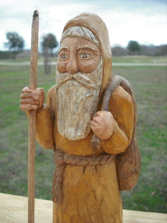 Hand Carved Old World Santa Original