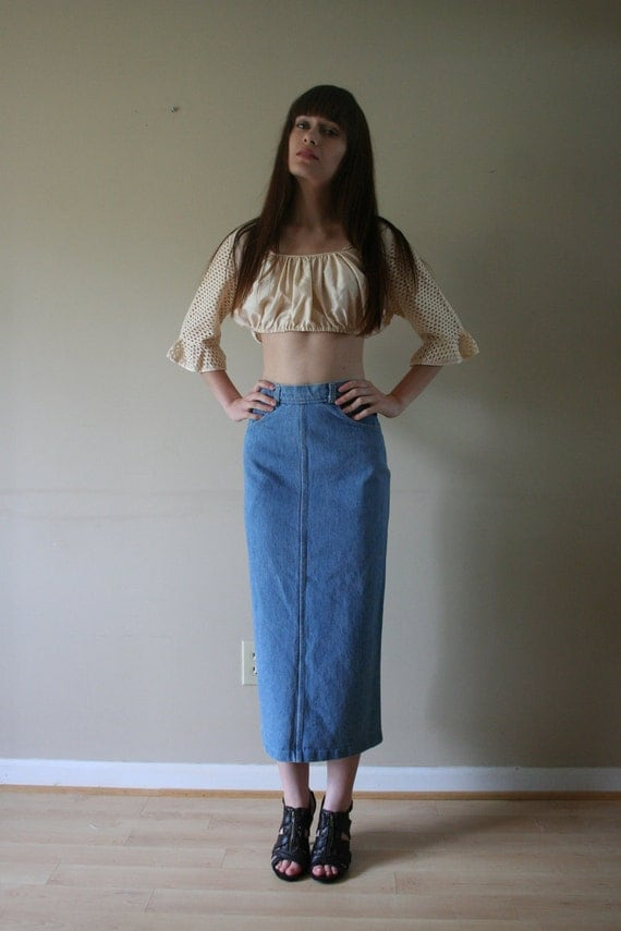 70s Denim Skirt Candies Form Fitting Button Down Casual Hipster Western Americana Size Extra Small-Small xs sm (000-00-0-2)