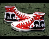 Beatles Converse shoes - hand painted for Anna