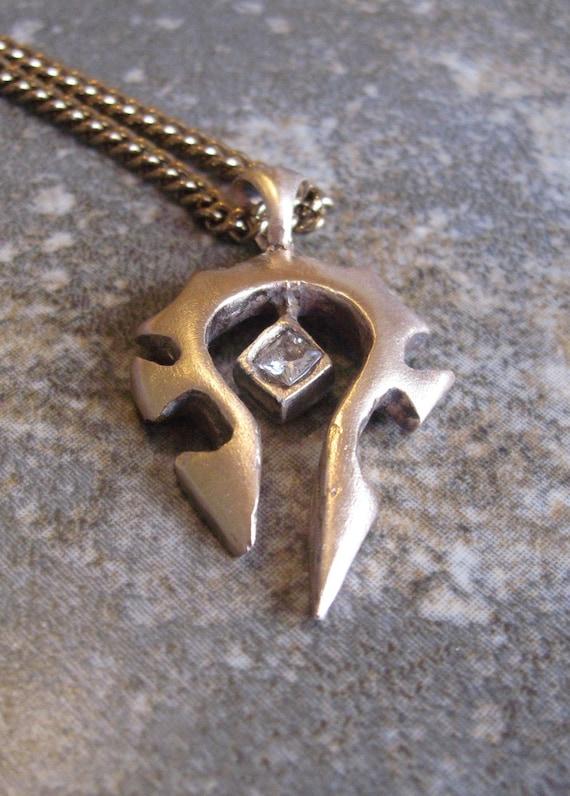 Bronze World of Warcraft Horde Necklace