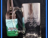 Daddy's Sippy Cup, Hand-Etched/Engraved Beer Mug, 27 oz.