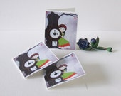 Mini Art Cards Cute Whimsical Thank You Tags