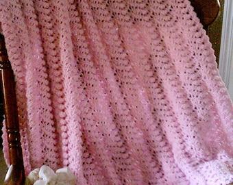 Pink Ruffle Afghan