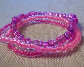 Bright PiNK-childrens stretch bracelets- set of 3