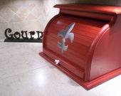 fleur-de-lis bread box handpainted and built