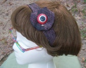 Plum and Pink  Necktie Headband
