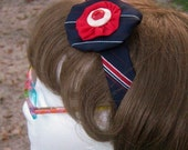 Red White and Blue Necktie Headband