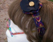 Purple and Gold Necktie Headband