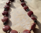 Sunstone and onyx necklace