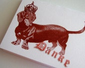 "Dachshund - ""Danke Dachsie"" Folded Note Cards - SET OF 4"