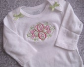 CUSTOM Boutique Fancy  Monogram Shirt (You pick letter name and colors)