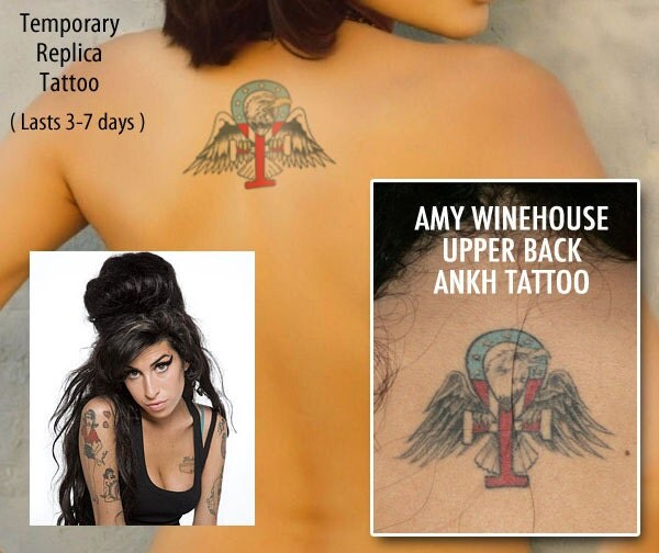 AMY WINEHOUSE ANKH temporary tattoo handmade tribute by ...  AMY WINEHOUSE A...