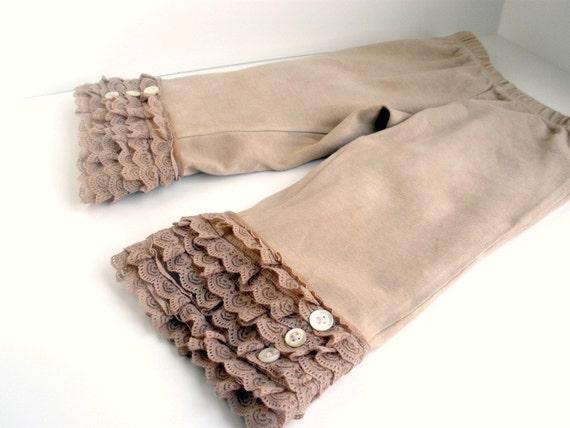 Girls Ruffled Lace Pants