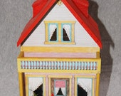 Refurbished and Renewed Mott Dollhouse with Furniture One Quarter Scale