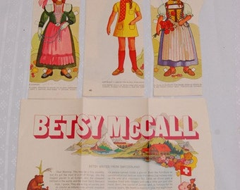 REDUCED Vintage Paper Dolls and Their Clothes