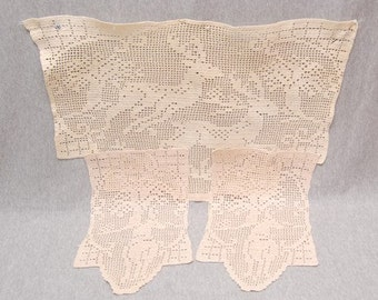 REDUCED, Vintage Late Victorian Doily Set with a Sense of Humor