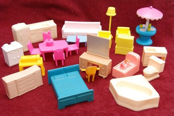 Sale Vintage Half Inch Scale Dollhouse Furniture Mix And