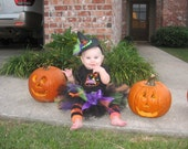 Custom tutus...ITTY BITTY WITCH....3,6,9,12,18,24 months and 2T,3T,4T,5T,6T years, halloween,costume, trick or treat, birthday