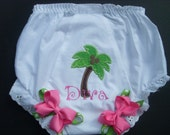 Custom bloomers..PALM TREE DIVA... any color...any theme...diaper covers...dress up..matches tutu set