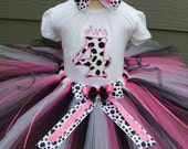Custom Tutus...DALMATION DIVA, tutu set,...any color...size 3,6,9,12,18,24 months and 2T,3T,4T,5T,6T years,costume, birthday