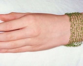 Unusual Beaded Bracelet - green
