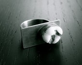 Feeling A Little Unbalanced Ring with Human tooth