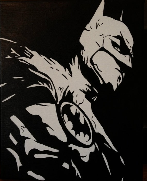 Print of Original Painting - Batman, 5 x 7
