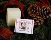 Peppermint Stick All Natural Soap Free Shipping in the U.S.  Great Gift or Stocking Stuffer