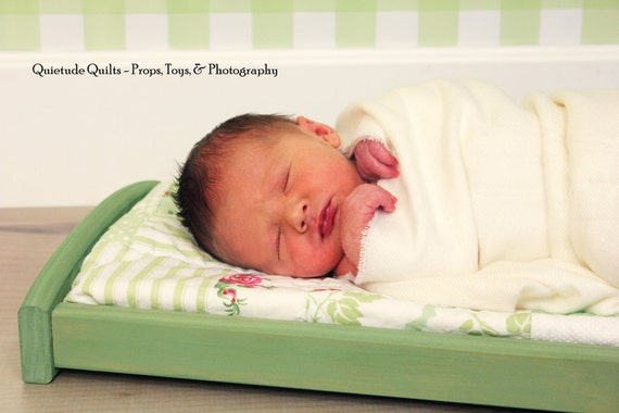 Green Drawer Photo Prop - Trundle Only - Newborn Photo Props Drawer with white mattress
