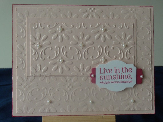 Lovely Pale Pink Embossed Card