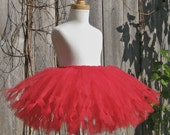 CHERRY BOMB Tutu - just red - Pure and Knotty Collection by Whimsy Pie - tutus for children, Made to Order, Valentine