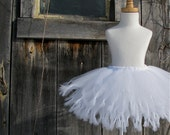 SNOW ANGEL Tutu - all white, white wedding - Pure and Knotty Collection by Whimsy Pie - tutus for children, Made to Order