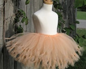 PEACH BELLINI Tutu -soft melon- Pure and Knotty Collection by Whimsy Pie - tutus for children, Made to Order