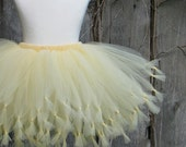 SUNGLOW Tutu - soft yellow - Pure and Knotty Collection by Whimsy Pie - tutus for children, Made to Order