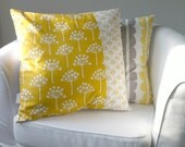 Throw Pillow Cover - Yellow & White Dandelions
