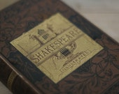antique illustrated book of shakespeare 1881