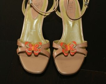 Nickels Shoes Wedge with Ankle Strap and Butterfly Detail