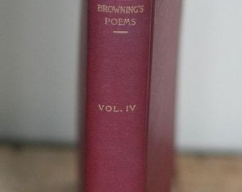 vintage book of poems by elizabeth barrett browning